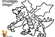 Pokemon Coloring Pages Druddigon Pokemon Coloring Pages Druddigon