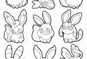 Pokemon Coloring Pages Eevee Evolutions Sylveon Pokemon Coloring Pages Eevee Evolutions Sylveon