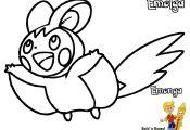 Pokemon Coloring Pages Emolga Pokemon Coloring Pages Emolga
