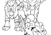 Pokemon Coloring Pages Entei Pokemon Coloring Pages Entei