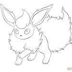 Pokemon Coloring Pages Flareon Pokemon Coloring Pages Flareon