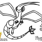 Pokemon Coloring Pages Flygon Pokemon Coloring Pages Flygon