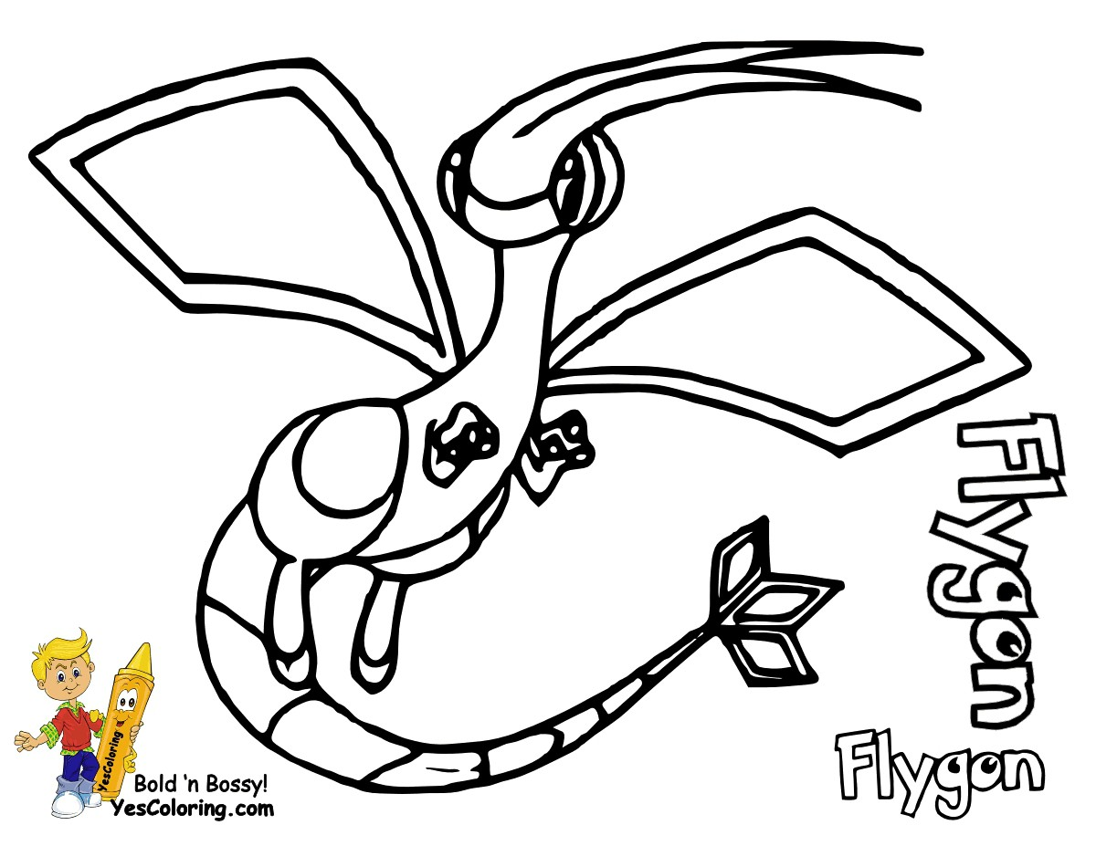 pokemon-coloring-pages-flygon-of-pokemon-coloring-pages-flygon Pokemon Coloring Pages Flygon Cartoon