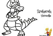 Pokemon Coloring Pages Krokorok Pokemon Coloring Pages Krokorok