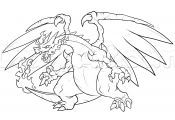 Pokemon Coloring Pages Mega Charizard Pokemon Coloring Pages Mega Charizard