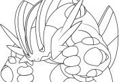 Pokemon Coloring Pages Mega Swampert Pokemon Coloring Pages Mega Swampert