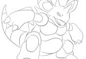 Pokemon Coloring Pages Nidoking Pokemon Coloring Pages Nidoking