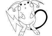 Pokemon Coloring Pages Raichu Pokemon Coloring Pages Raichu