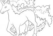 Pokemon Coloring Pages Rapidash Pokemon Coloring Pages Rapidash