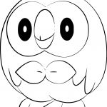 Pokemon Coloring Pages Rowlet Pokemon Coloring Pages Rowlet