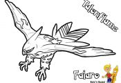Pokemon Coloring Pages Talonflame Pokemon Coloring Pages Talonflame