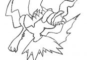 Pokemon Darkrai Coloring Pages Pokemon Darkrai Coloring Pages