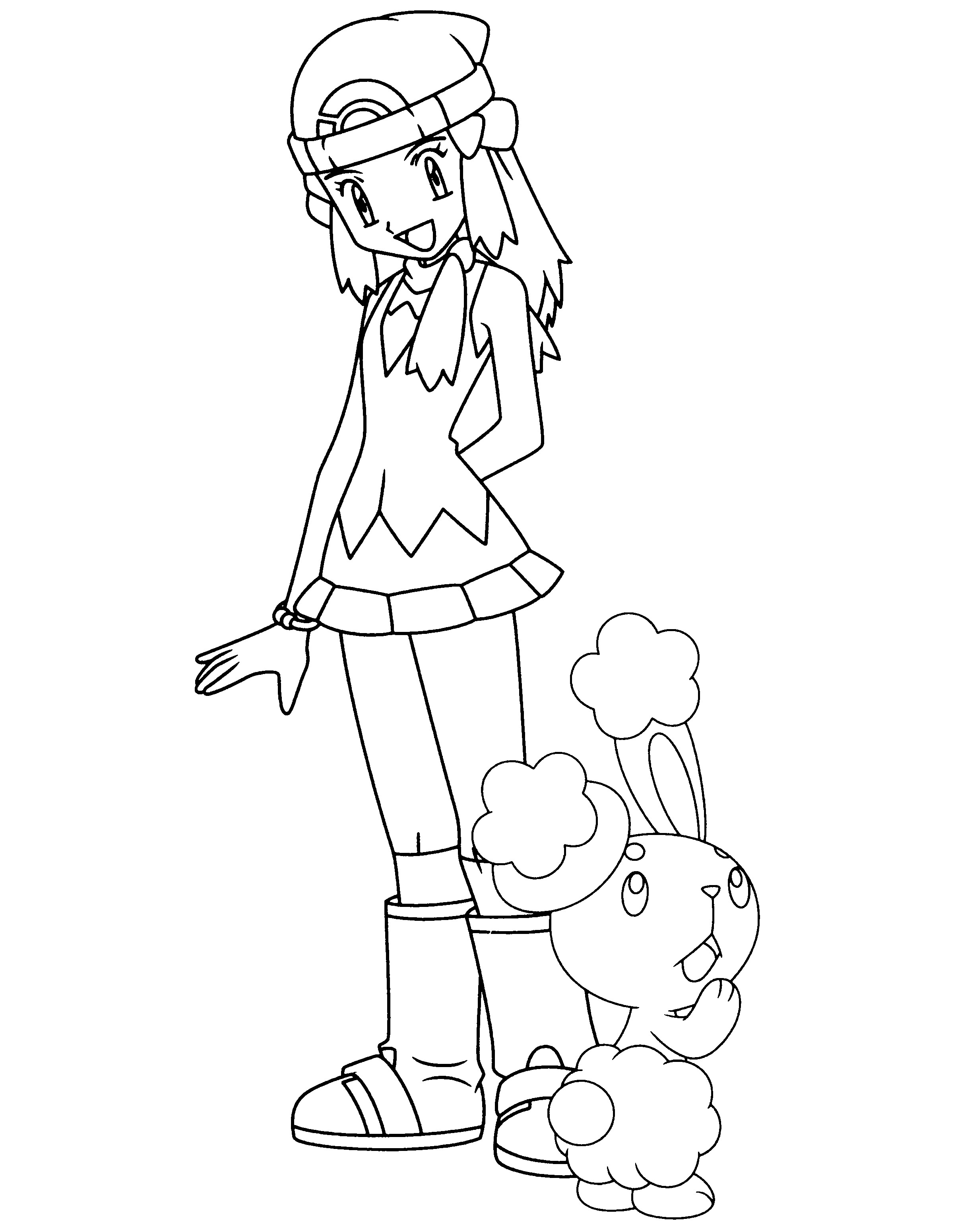 Fresh dawn pokemon coloring pages 9