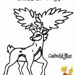 Pokemon Deerling Coloring Pages Pokemon Deerling Coloring Pages