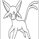 Pokemon Espeon Coloring Pages Pokemon Espeon Coloring Pages