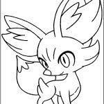 Pokemon Fennekin Coloring Pokemon Fennekin Coloring
