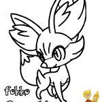 Pokemon Fennekin Coloring Pages Pokemon Fennekin Coloring Pages