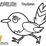 Pokemon Fletchling Coloring Pages Pokemon Fletchling Coloring Pages