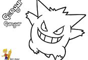Pokemon Gengar Coloring Pages Pokemon Gengar Coloring Pages