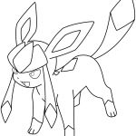Pokemon Glaceon Coloring Pages Pokemon Glaceon Coloring Pages