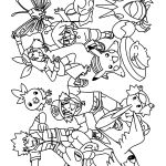 Pokemon Group Coloring Pages Pokemon Group Coloring Pages