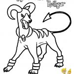 Pokemon Houndoom Coloring Pages Pokemon Houndoom Coloring Pages