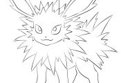 Pokemon Jolteon Coloring Pages Pokemon Jolteon Coloring Pages