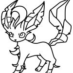 Pokemon Leafeon Coloring Pages Pokemon Leafeon Coloring Pages