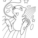 Pokemon Mew Coloring Pages Pokemon Mew Coloring Pages