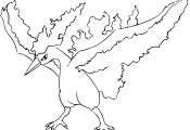 Pokemon Moltres Coloring Pages Pokemon Moltres Coloring Pages