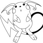 Pokemon Raichu Coloring Pages Pokemon Raichu Coloring Pages