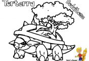 Pokemon torterra Coloring Pages Pokemon torterra Coloring Pages