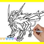 Pokemon Ultra Necrozma Coloring Pages Pokemon Ultra Necrozma Coloring Pages