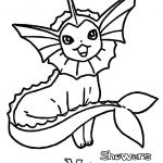 Pokemon Vaporeon Coloring Pages Pokemon Vaporeon Coloring Pages