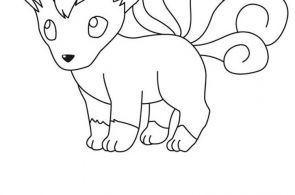 Pokemon Vulpix Coloring Pages Pokemon Vulpix Coloring Pages