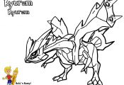 Pokemon White Kyurem Coloring Pages Pokemon White Kyurem Coloring Pages