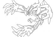 Pokemon Yveltal Coloring Pokemon Yveltal Coloring