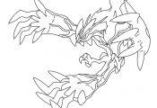 Pokemon Yveltal Coloring Pokemon Yveltal Coloring
