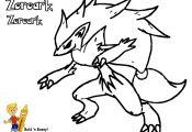 Pokemon Zoroark Coloring Pages Pokemon Zoroark Coloring Pages