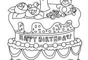 Princess Cake Coloring Page Princess Cake Coloring Page