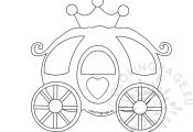 Princess Carriage Coloring Page Princess Carriage Coloring Page
