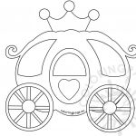 Princess Carriage Coloring Pages Princess Carriage Coloring Pages