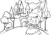 Princess Castle Coloring Page Princess Castle Coloring Page