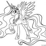 Princess Celestia Coloring Page Princess Celestia Coloring Page