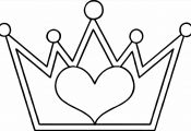 Princess Crown Coloring Page Princess Crown Coloring Page