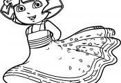 Princess Dora Coloring Pages Princess Dora Coloring Pages
