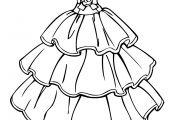 Princess Dress Coloring Page Princess Dress Coloring Page