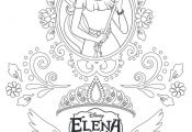 Princess Elena Coloring Pages Princess Elena Coloring Pages