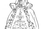 Princess Gown Coloring Pages Princess Gown Coloring Pages