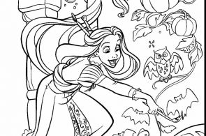 Princess Halloween Coloring Page Princess Halloween Coloring Page